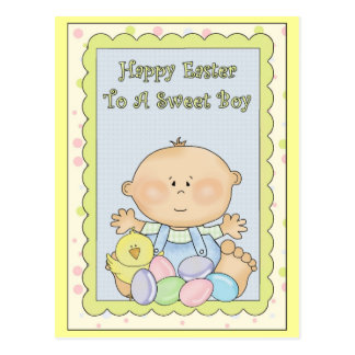 Happy Easter to A Sweet Boy Postcard
