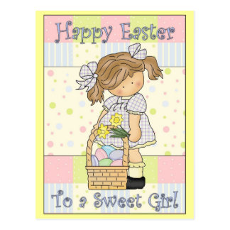 Happy Easter to A Sweet Girl 2 Post Card