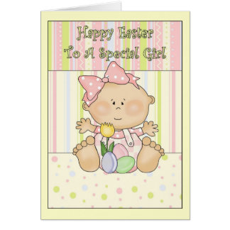 Happy Easter to A Sweet Girl Card