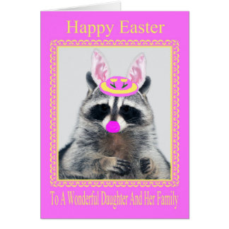 Happy Easter To Daughter And Family Greeting Card