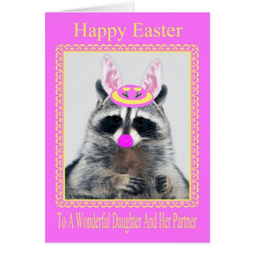 Happy Easter To Daughter And Partner Greeting Card