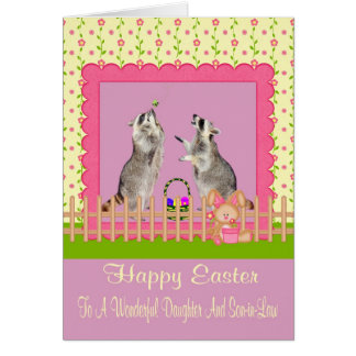 Happy Easter to Daughter Son-in-Law Greeting Card