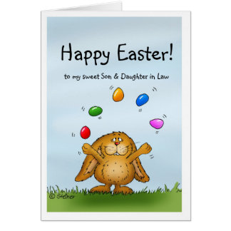 Happy Easter to my Son & Daughter in Law Greeting Card