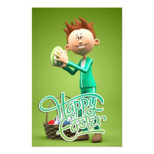 Happy Easter Toon Custom Flyer