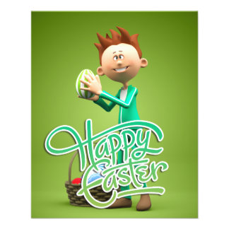 Happy Easter Toon Personalized Flyer