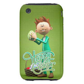 Happy Easter Toon iPhone 3 Tough Cases
