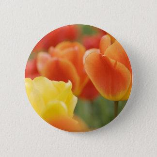 Happy Easter Tulips 6 Cm Round Badge