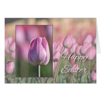 Happy Easter, Tulips Greeting Card