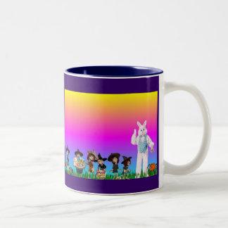 Happy Easter! Two-Tone Coffee Mug