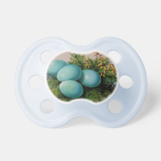 Happy Easter Vintage Blue Egg Pacifier