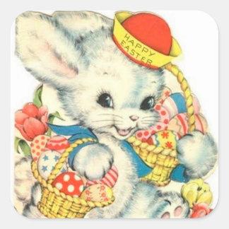 Happy Easter Vintage bunny Nostalgic sticker