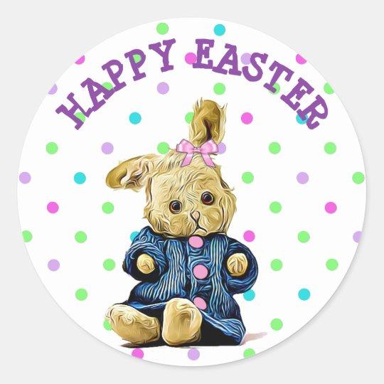 Happy Easter Vintage Bunny Sticker