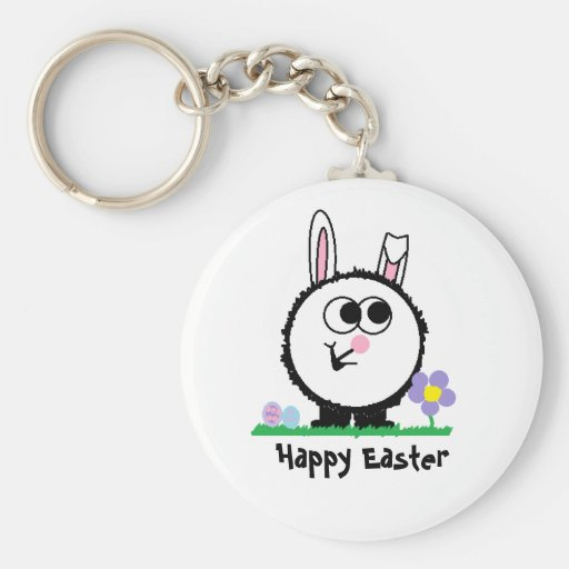 Happy Easter Weeble Keychain