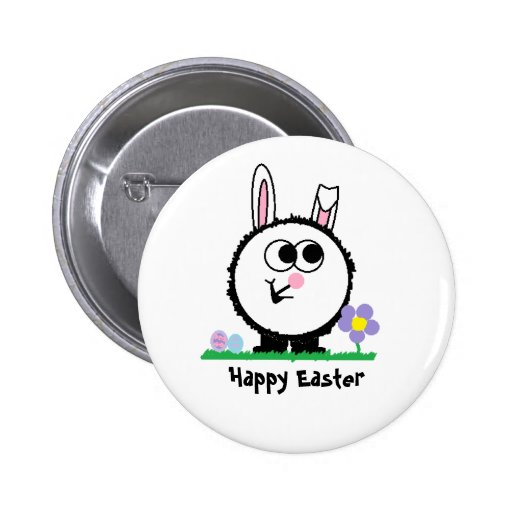Happy Easter Weeble Pin