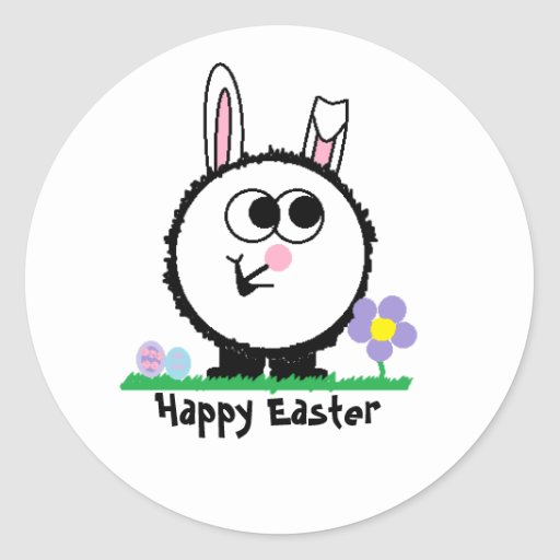 Happy Easter Weeble Sticker