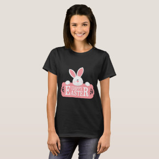 Happy Easter White Bunny T-Shirt