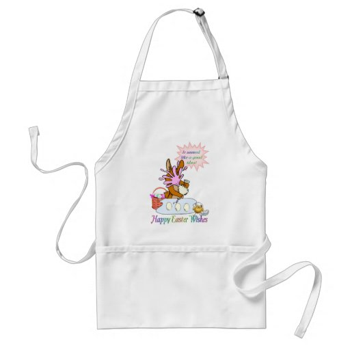 Happy Easter Wishes Aprons