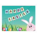 Happy Easter with Bunny & Eggs