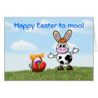 Happy Easter with cow humour funny Card