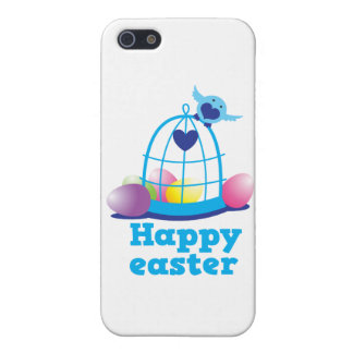 Happy easter with cute little bird and cage eggs case for iPhone 5
