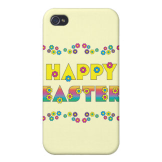 Happy Easter with Flowers iPhone 4/4S Case