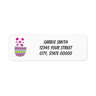 Happy Easter with Love Easter Egg Personalize Return Address Label