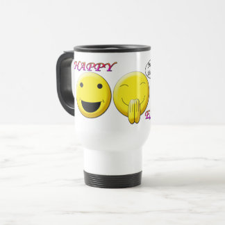 Happy Easter with smiley images Travel/Commute Mug