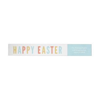 Happy Easter | Wraparound return address label