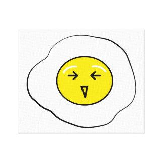 Happy egg canvas print