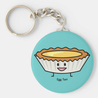 Happy Egg Tart Custard crust Chinese dessert Key Ring