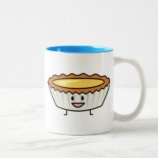 Happy Egg Tart Two-Tone Coffee Mug