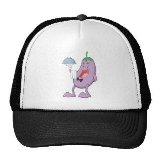 Happy Eggplant Waiter Cap
