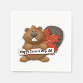 Happy, Eh? Canada Day Party Paper Napkins