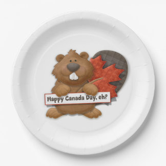 Happy, Eh? Canada Day Party Paper Plates