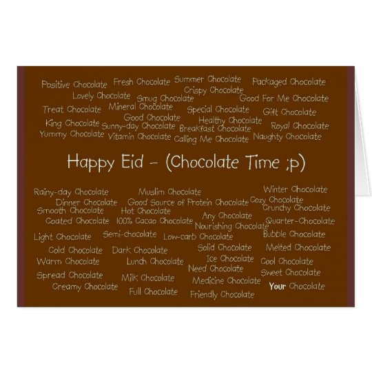 Happy Eid - (Chocolate Time) Card