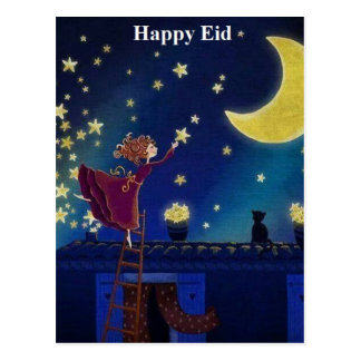 happy eid postcard