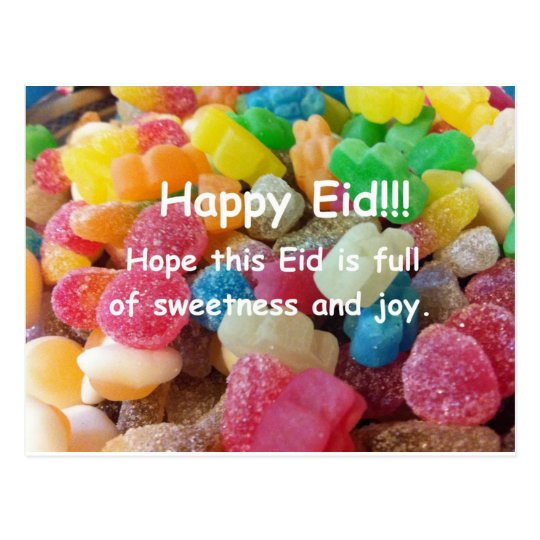 Happy Eid Sweets Postcard
