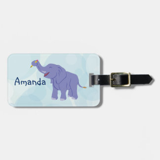 Happy Elephant (personalize) Luggage Tag