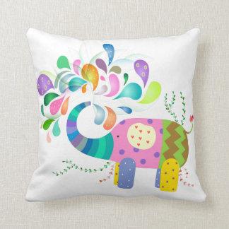Happy Elephant Splashing Cushion