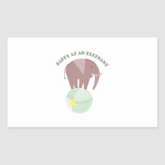 Happy Elephant Stickers