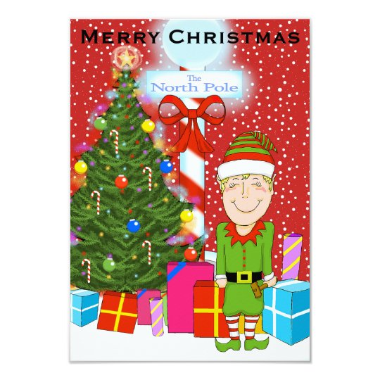 Happy Elf Christmas Party Invitation