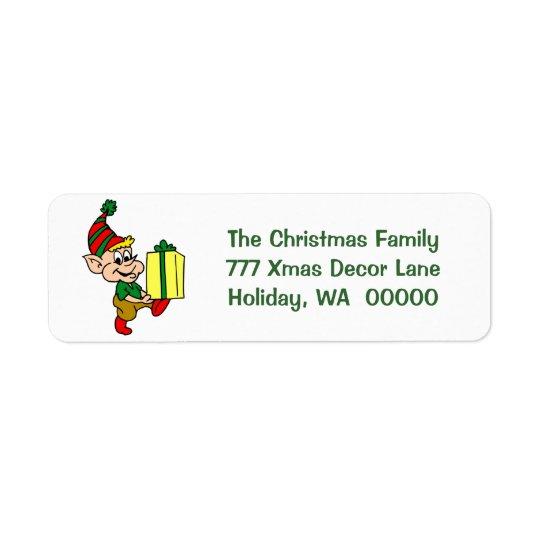 Happy Elf Merry Christmas Card Envelopes Address