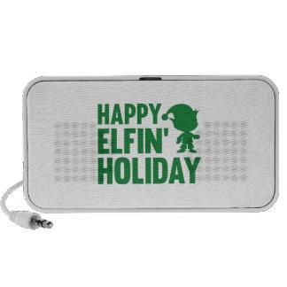 Happy Elfin' Holiday Travel Speakers
