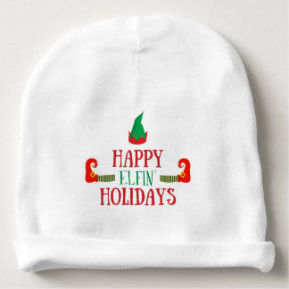 Happy Elfin Holidays Christmas Baby Beanie