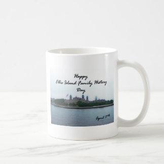 Happy Ellis Island Family History Day April 17 Basic White Mug