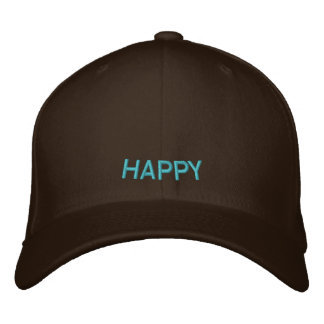 HAPPY EMBROIDERED HAT