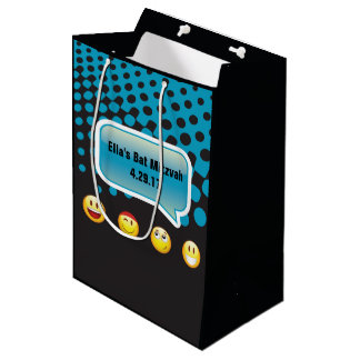 HAPPY EMOJI Bar Bat Mitzvah Gift Bag