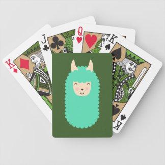 Happy Emoji Llama Bicycle Playing Cards