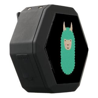 Happy Emoji Llama Black Bluetooth Speaker