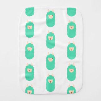 Happy Emoji Llama Patterned Burp Cloth